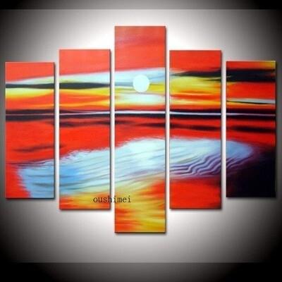 Ocean Poster - 5 Panel Canvas Print Wall Art Set