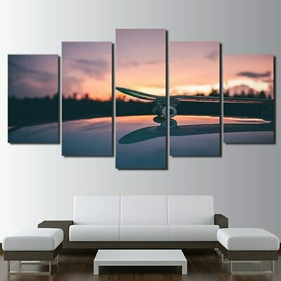 Modular Skateboard - 5 Panel Canvas Print Wall Art Set