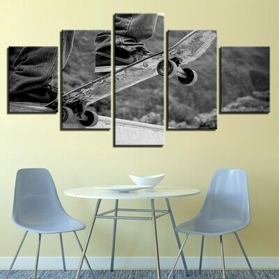 Cool Skateboarding - 5 Panel Canvas Print Wall Art Set