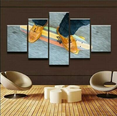 Modern Skateboarding - 5 Panel Canvas Print Wall Art Set