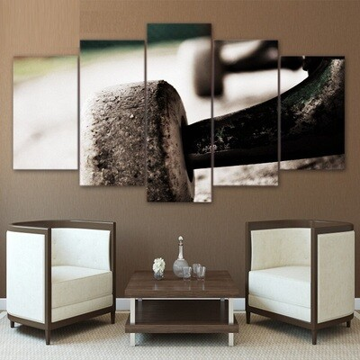 Skateboard Wheel - 5 Panel Canvas Print Wall Art Set
