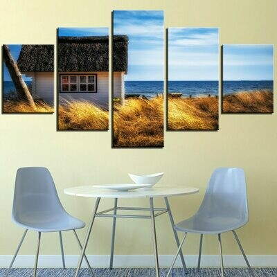 Coastal Seascape - 5 Panel Canvas Print Wall Art Set
