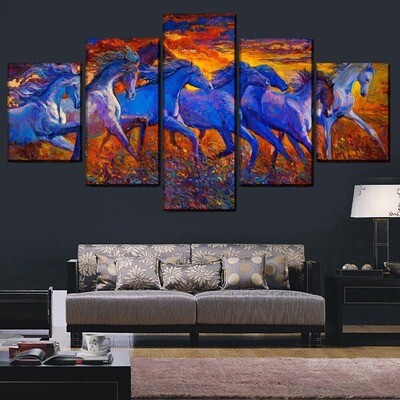 Abstract Artistic Horse Multi Canvas Print Wall Art