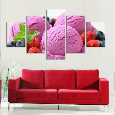 Cake Abstract - 5 Panel Canvas Print Wall Art Set
