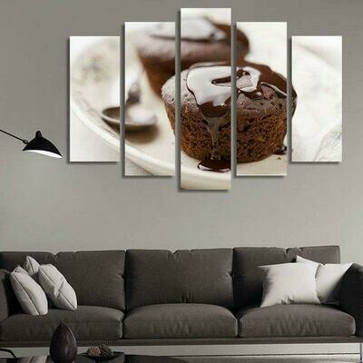 Desserts - 5 Panel Canvas Print Wall Art Set