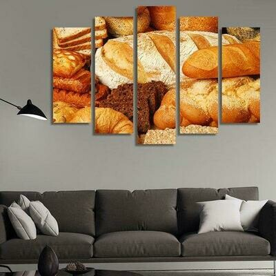 Bread - 5 Panel Canvas Print Wall Art Set