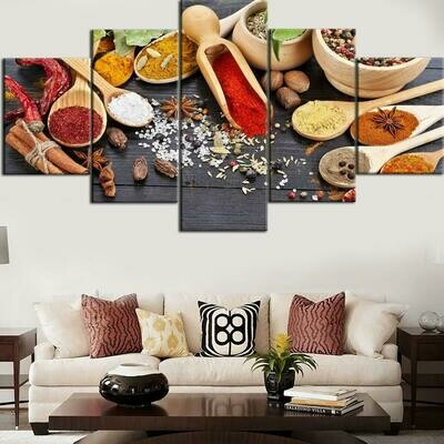 Grain Food - 5 Panel Canvas Print Wall Art Set