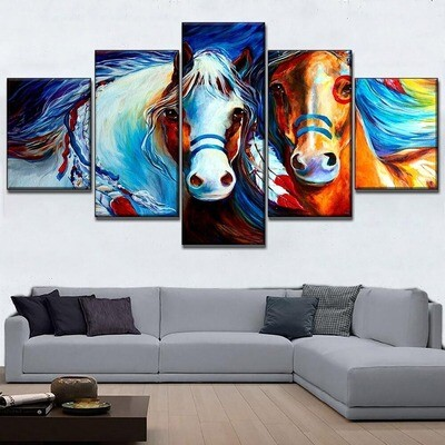 Abstract Horse Multi Canvas Print Wall Art