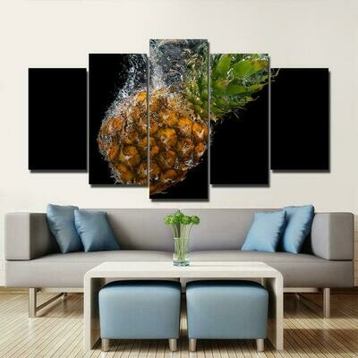 Pine Apple - 5 Panel Canvas Print Wall Art Set