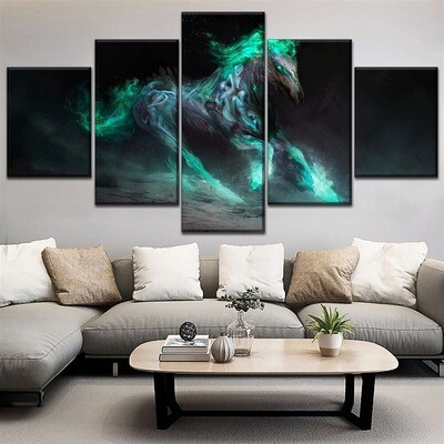 Abstract Horse Animal Multi Canvas Print Wall Art