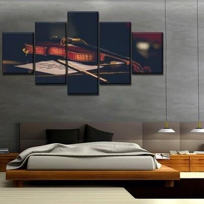 Instrument Violin Music Multi Canvas Print Wall Art