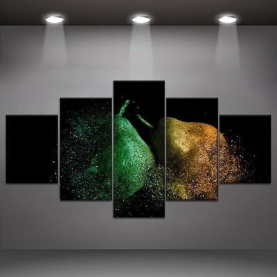 Destruction Pears Multi Canvas Print Wall Art