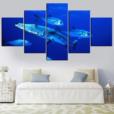 Animal Barracuda Multi Canvas Print Wall Art