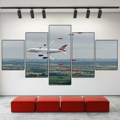 Airbus Airplane Spectacular Multi Canvas Print Wall Art