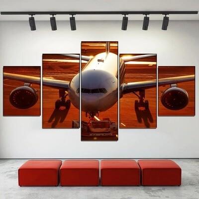 Aircraft Passenger Plane Multi Canvas Print Wall Art