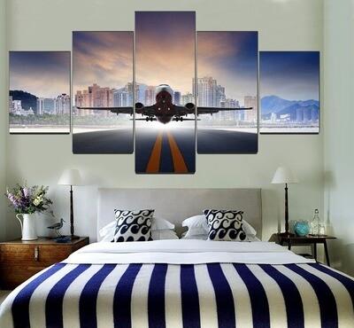 Aircraft Traffic Multi Canvas Print Wall Art