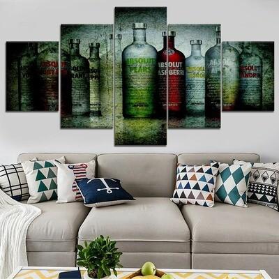 Vodka Multi Canvas Print Wall Art