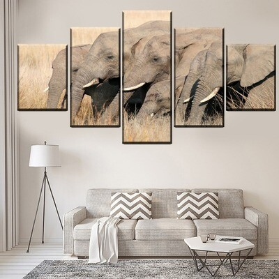 Animal Elephant Modular Multi Canvas Print Wall Art