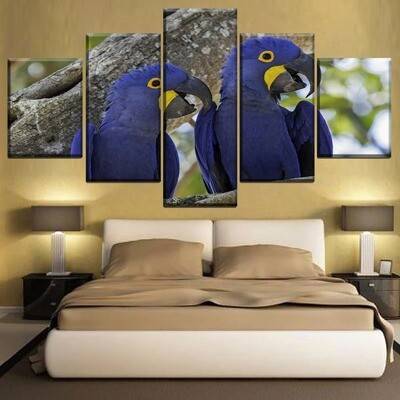 Animal Hyacinth Macaw Multi Canvas Print Wall Art