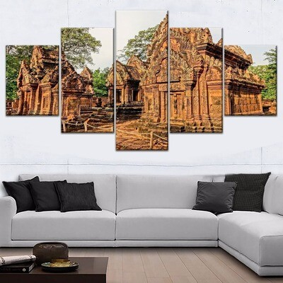 Ancient Architecture Multi Canvas Print Wall Art