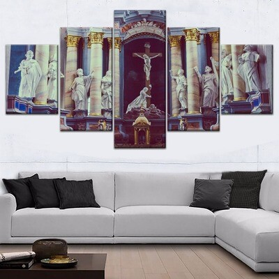 Ancient Religion Architecture Multi Canvas Print Wall Art
