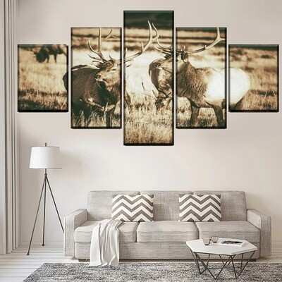Animal Poster Multi Canvas Print Wall Art