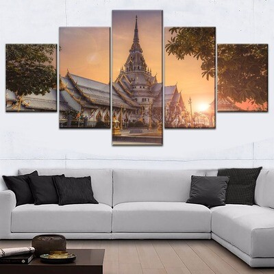 Asia Temple Ancient Architecture Multi Canvas Print Wall Art