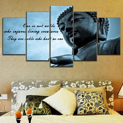 Blue Sky Buddha Quotes Multi Canvas Print Wall Art
