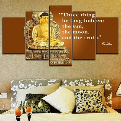 Buddha Quotes Multi Canvas Print Wall Art