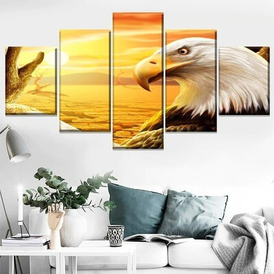 Bald Eagle Multi Canvas Print Wall Art