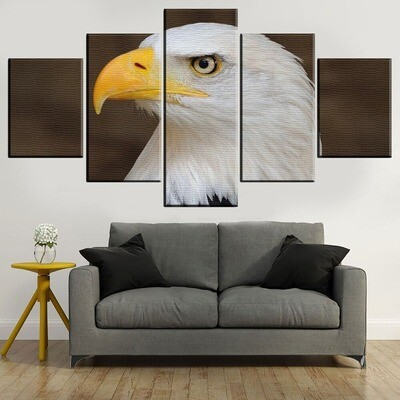 Bald Eagle Animal Multi Canvas Print Wall Art
