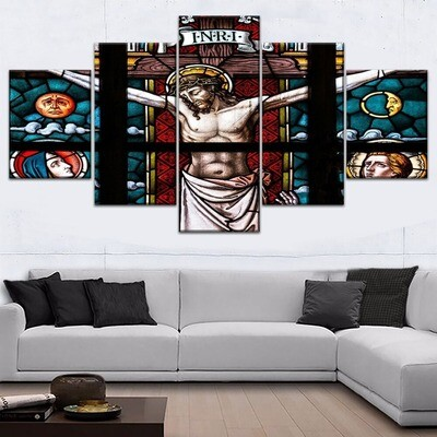 Cathedral Christ Multi Canvas Print Wall Art