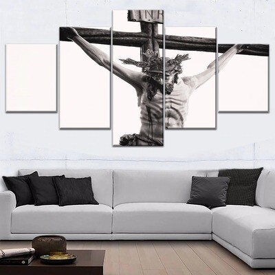 Christian Jesus Cross Multi Canvas Print Wall Art