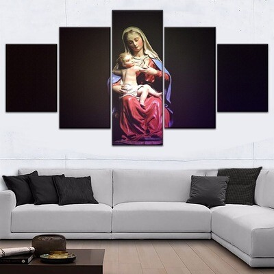 Christianity Jesus Maria Multi Canvas Print Wall Art