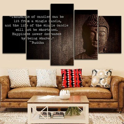 Classic Buddha Statue Pictures Multi Canvas Print Wall Art