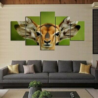 Antelope Multi Canvas Print Wall Art