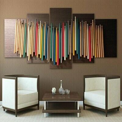 Drumstick Multi Canvas Print Wall Art