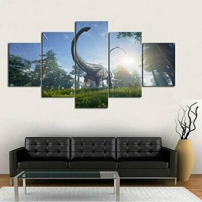 Dinosaur Multi Canvas Print Wall Art