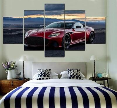 Aston Martin DBS Superleggera Sport Car Multi Canvas Print Wall Art