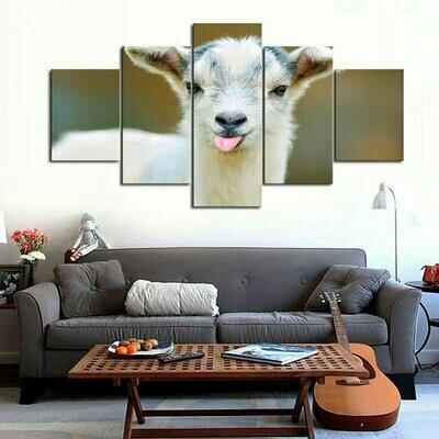 Goat Multi Canvas Print Wall Art