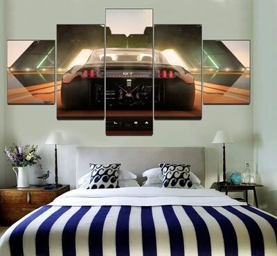 Born To Drift Car GT Multi Canvas Print Wall Art