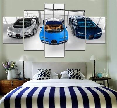 Bugatti Chiron Supercar Multi Canvas Print Wall Art