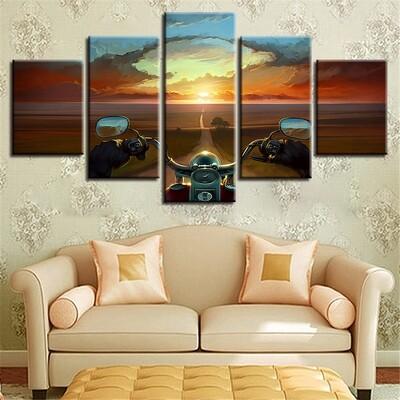 Mortobike Multi Canvas Print Wall Art