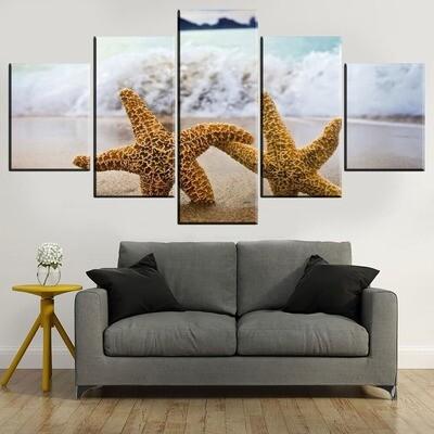 Starfish Multi Canvas Print Wall Art