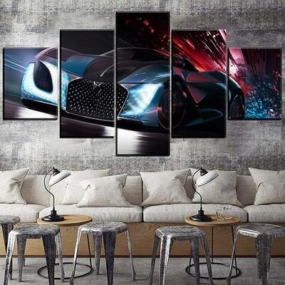Concept Super Car Multi Canvas Print Wall Art