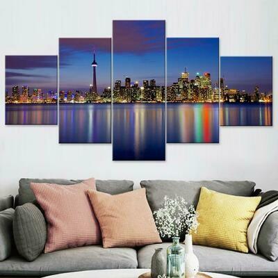 Toroto Multi Canvas Print Wall Art
