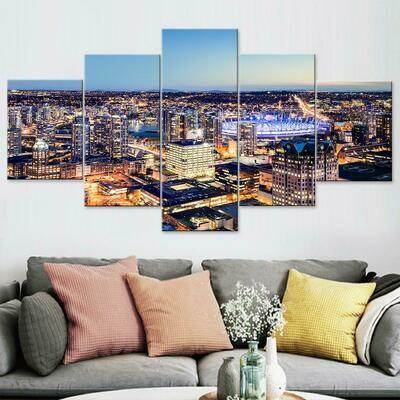 Vancouver Multi Canvas Print Wall Art