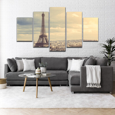 Paris Multi Canvas Print Wall Art