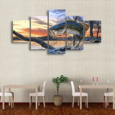 Bass Multi Canvas Print Wall Art