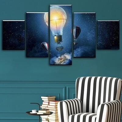 Adrift Multi Canvas Print Wall Art